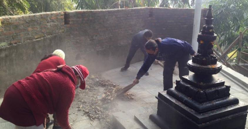 Temple Cleaning and Vegetarian Awareness Campaign (Ongoing)